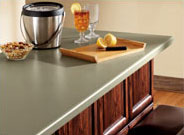 Bar Countertop Painted in Rosemary